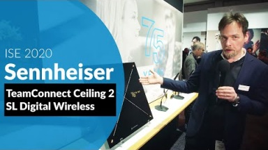 Sennheiser SL Bose ES1 Ceiling Audio Solution oraz SL Digital Wireless (ISE2020)