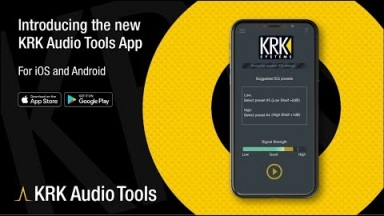 Introducing The KRK Audio Tools App